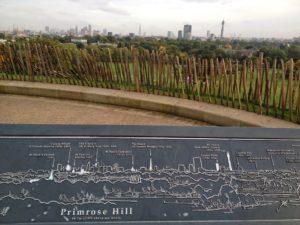 Mapa da paisagem em Primrose Hill